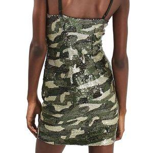 8e3a6cf76873 Topshop Dresses   Camo Sequin Slip Dress Sizing Reads Us 6   Poshmark